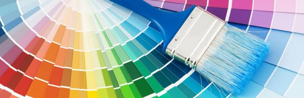 painting colors with paint brush, interior exterior painting